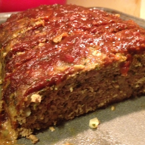 Turkey Pesto Meatloaf with Balsamic Tomato Sauce