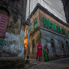 Love in Kolkata by Pranab Sarkar - Wedding Bride & Groom ( love, prewedding, couple, kolkata wedding photography, lovebirds, kolka )