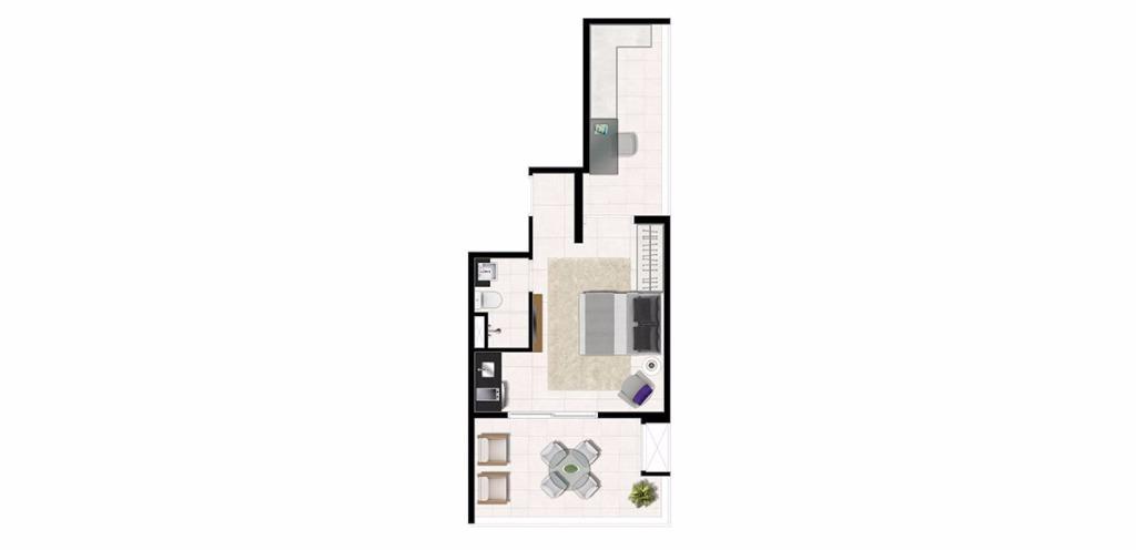 Planta Uphouse 41 m²