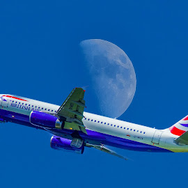 over  the moon by Eseker RI - Transportation Airplanes
