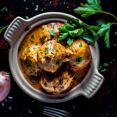 Chicken Meatballs in a Creamy Paprika Sauce