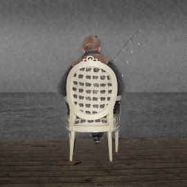 Chair by Staffan Håkansson - Digital Art Things ( water, chair, fischerman, horizon, rapsbollen )
