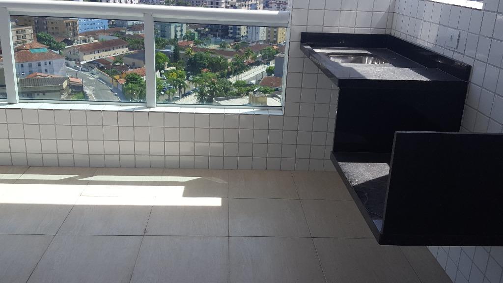 Apartamento de 2 dormitórios em Vila Caiçara, Praia Grande - SP