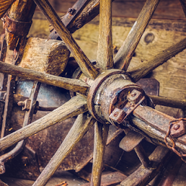 Old things in the barn by Roberto Sorin - Artistic Objects Antiques ( nobody, old, handle, wood, retro, collection, rusty, rustic, weathered, aged, decor, hanging, farm, lantern, style, barn, metal, dirty, nostalgia, objects, hook, fruit, vintage, decoration, texture, wheels, traditional, rural, history, wooden, stuff, pattern, background, lamp, box, things, barrel, antique, design, wall, storage,  )