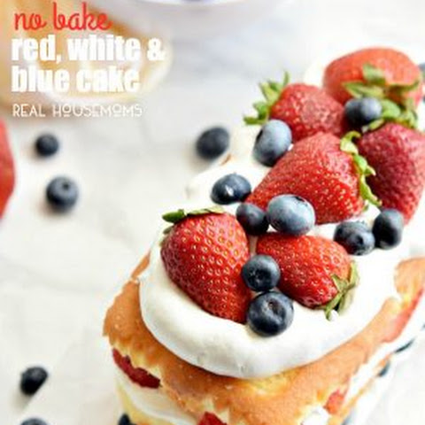 No Bake Red White and Blue Cake