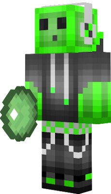 Slime face minecraft skin