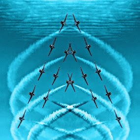 A is for Aeroplane! by Campbell McCubbin - Typography Single Letters ( snowbirds, aeroplane, a, letter a, formation flying,  )