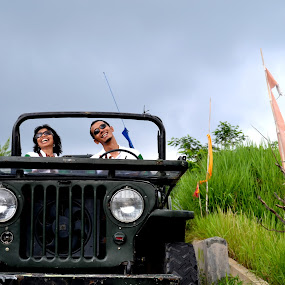 Country Romance by Hery Muhendra - Public Holidays Other ( old, jeep, holiday.country, couple )