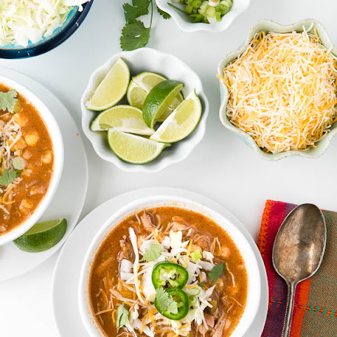 Slow Cooker Shortcut Red Posole