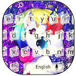 Glitter Unicorn Keyboard Theme Icon