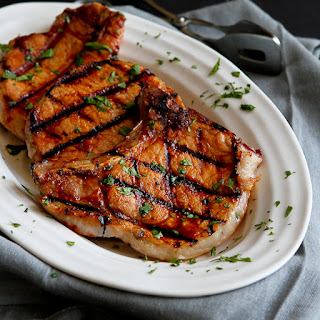 Grilled Pineapple Chili Pork Chops