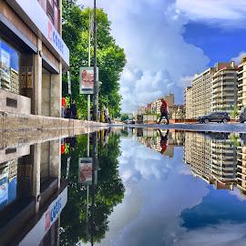 by Luis Palma - City,  Street & Park  Street Scenes