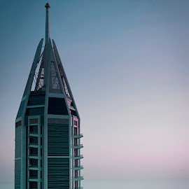 The majesty by Muthu Krishna - Buildings & Architecture Other Exteriors ( foggy, towers, skyscraper, aerial, architecture, photography,  )