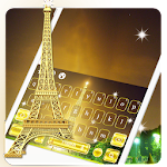 Golden Paris Keyboard Theme Icon