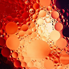 Lava under the Sea by Kathy Jo Drake - Abstract Water Drops & Splashes ( orange, red, abstract photography, black, fire )