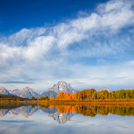 The Tetons by Ken Smith - Landscapes Travel ( mountains, oxbow bend, landscape, grand tetons )
