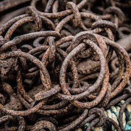 Chains by Dave Johnston - Novices Only Objects & Still Life ( chain, harbour, beam trawl, equipment, fishing )