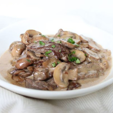 Carb-Free Beef Stroganoff