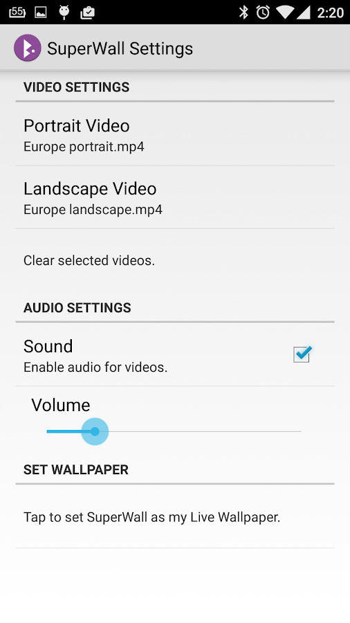 SuperWall Video Live Wallpaper Screenshot 6