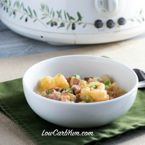 "Crock Pot Ham Cauliflower ""Potato"" Stew"