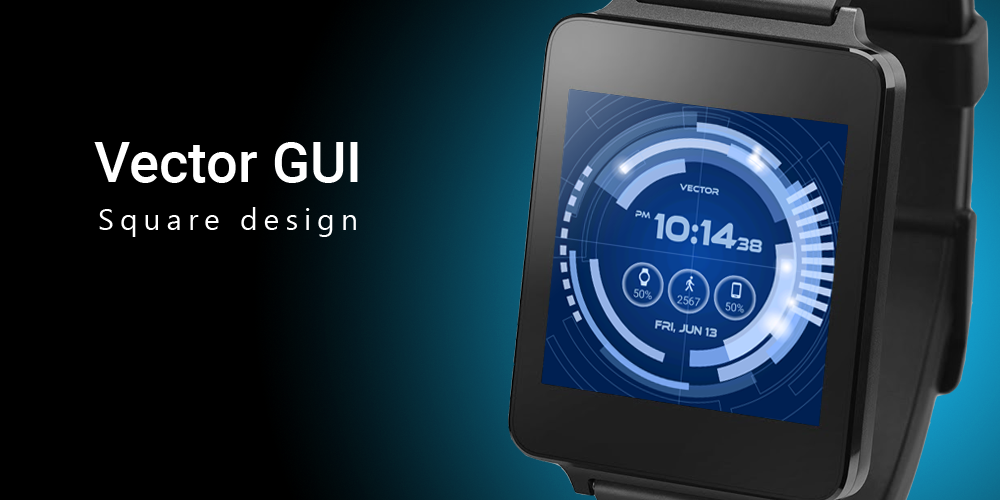 Vector GUI Watch Face Screenshot 5