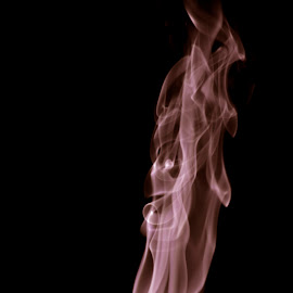by Hokhevi Zhimomi - Abstract Fire & Fireworks ( skull, flames, incense sticks, black, smoke )