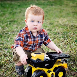 Boys and toys  by Stephanie Halley - Babies & Children Toddlers ( truck, toddler )