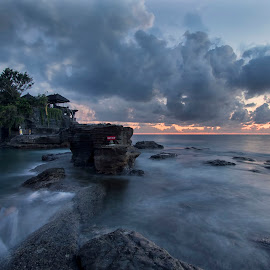 Sunset at Tanah Lot, Bali by Carol Kheng - Landscapes Sunsets & Sunrises ( #rocks, #tanahlot, #waves, #bali, #indonesia, #sunset )