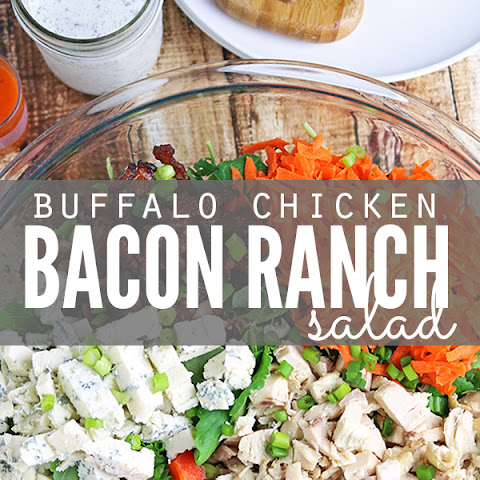Buffalo Chicken Bacon Ranch Salad