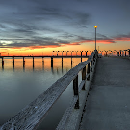 Higher by Harry James - Buildings & Architecture Bridges & Suspended Structures ( water, coastal georgia, golden isles, sunset, jekyll island )