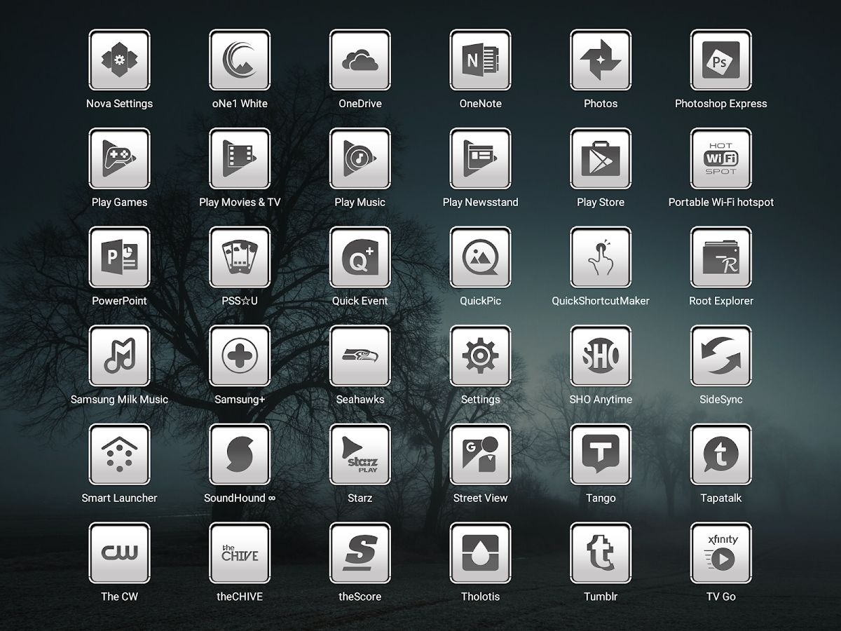 oNe1 White - Icon Pack Screenshot 10