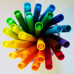 color pens by Uthpala Kuruppuarachchi - Abstract Fine Art ( stationary, color' pens, color pens, pencils )