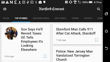 Screenshot of Hartford Courant