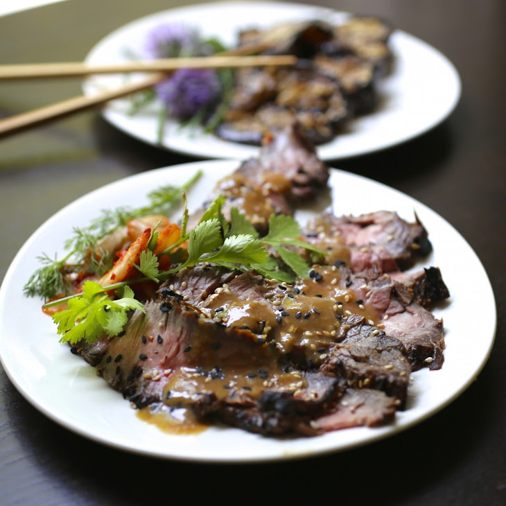 Asian-Marinated Grilled Flank Steak