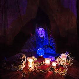 Gypsy by Jamie Rabold - Abstract Light Painting ( skull, light painting, crystal ball, candles, gypsy )