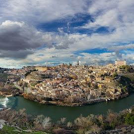 Toledo by Jim Hamel - City,  Street & Park  Vistas ( overlook, toledo, vista, tajo, spain, river )