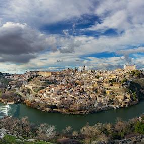 Toledo by Jim Hamel - City,  Street & Park  Vistas ( overlook, toledo, vista, tajo, spain, river )