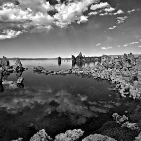 Mono Lake Tufas by Larry Kaasa - Landscapes Waterscapes ( rock formations, waterscape, mono lake, tufas, seascape, landscape )