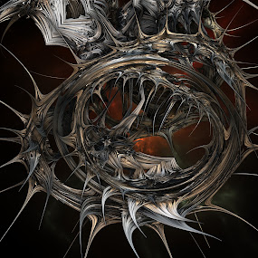 Halloween Wreath by Ricky Jarnagin - Illustration Abstract & Patterns ( abstract, ricky jarnagin, mandelbulb, dsynegrafix, 3d art, fractal, digital )