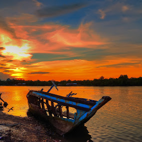 Sunset in Kampong Batu Putih Sandakan by Armie YS Yusop Teppo - Landscapes Sunsets & Sunrises