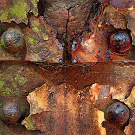 Weathered But Stable by Jon Kinney - Abstract Patterns ( patina, rusty, weathered )