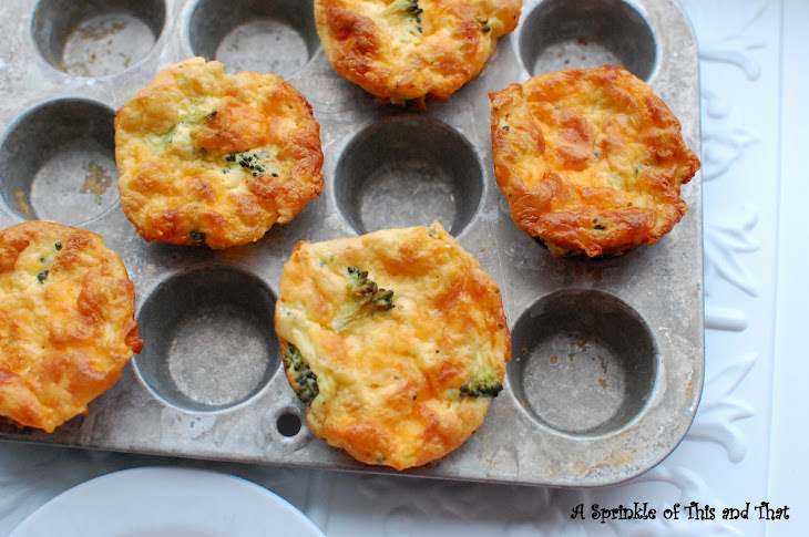 broccoli and cheddar mini frittatas from a sprinkle of this and that ...