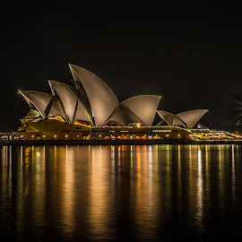 Sydney Opera House by Nicole Castanheira - Buildings & Architecture Public & Historical ( water, night photography, australia, outdoor, harbour, long exposure, opera, opera house, light, sydney )