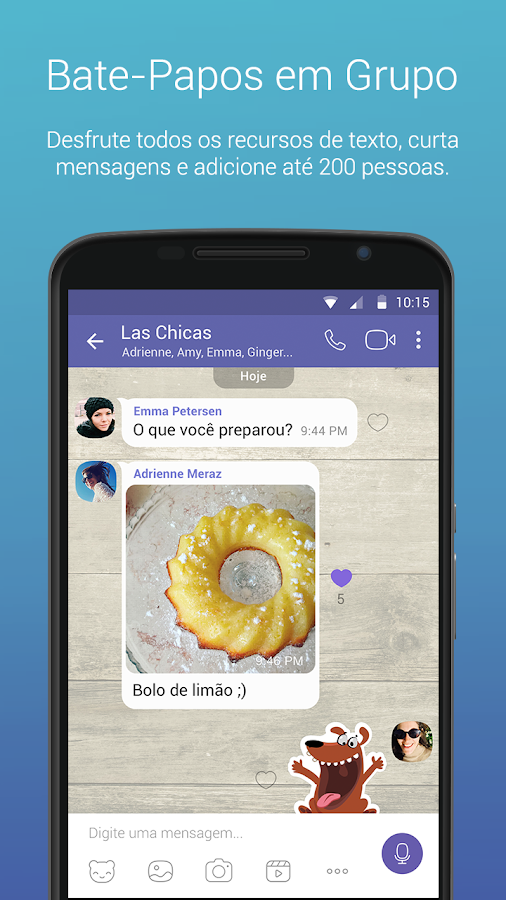 Viber: captura de tela