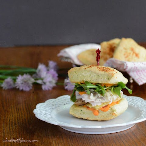 Turkey Sandwich with Chive Parmesan Biscuits