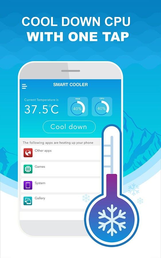 Phone Cooler: CPU, RAM Cooler Master [Pro-No Ads] Screenshot 1