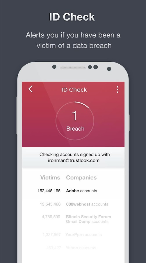 Premium Mobile Antivirus App Screenshot 1