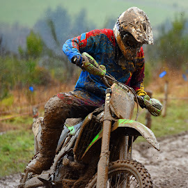 by Marco Bertamé - Sports & Fitness Motorsports ( rider, mud, motocross, clumps, cureve, ¨race, rain, competition )