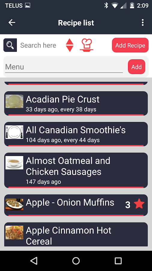 Food Planner Screenshot 1