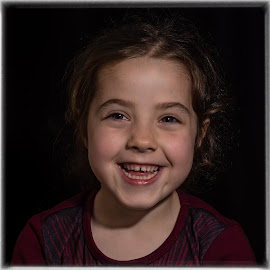 Smile by Barry Smith - Babies & Children Child Portraits ( smiling, low key, portrait, daughter, child,  )